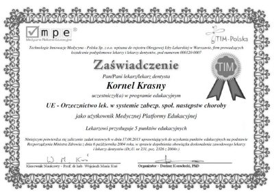 dr hab. n. med. Kornel Krasny (80)