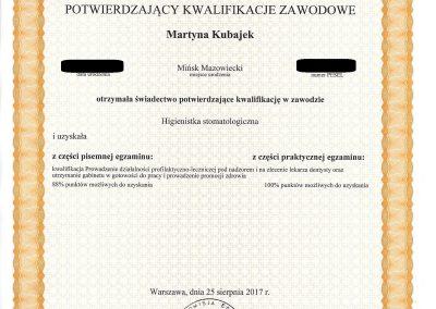 Martyna Kubajek MEDICARE  Mińsk Mazowiecki