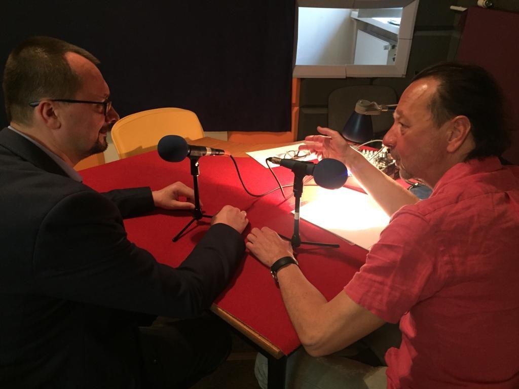 dyrektorem OSIS Witoldem Tomkiewiczem nagrali podkast