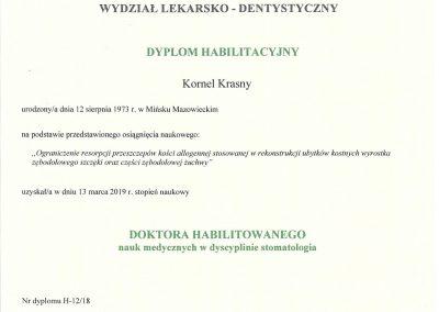 dyplom habilitacyjny